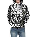 3D Fashion Skull Printed Long Sleeve Trendy Hoodie