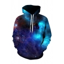 3D Galaxy Printed Leisure Long Sleeve Unisex Hoodie