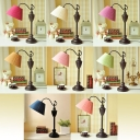 Single Head Tapered Standing Table Light Country Style Fabric Table Lamp for Bedroom Bedside