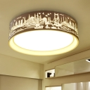 16.54'' W Modern Bedroom/Living Room Acrylic Round LED Ceiling Light