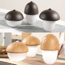 Portable USB Wooden Mushroom Mini Night Light in Dark/Shallow Wood Grain