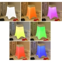 USB Chargeable Touch Sensing Eiffel Tower Glass LED Night Light with Changing Colors