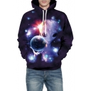 Fashion Fancy Alien Earth Printed Long Sleeve Hoodie