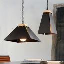 Black/White Rectangular Shade Coffee House Single Pendant 2 Designs for Option