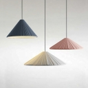 Pleated Resin Shade Single Ceiling Pendant for Coffee house Dining Room (White/Blue/Pink)