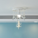Kids Bedroom Lighting Flush Mount Crystal Chandelier Swing Crystal Balls Flushmount Light