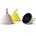 Modern Macaroon Plastic Mini Portable Night Light for Kids with Clock in White/Pink/Yellow
