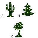 Green Cactus/Christmas Tree/Palm Tree LED Kids Night Light 3 Style for Option