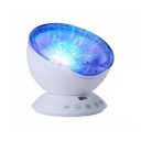 New Style Plastic Nebula Projector Night Light in Black/White/Blue