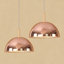 Modern Simple Style 1-Light Ceiling Pendant Light Fixture with Burnished Metal Dome Shade 11.8