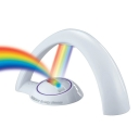 Plastic White Rainbow Lamp Night Stand Light for Girls Bedroom