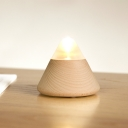Stand Anywhere Wooden Cone Plug-in/Touch Switch Night Light