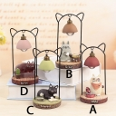Metal Resin Cat Decorative Kids Room Night Light 4 Style for Option