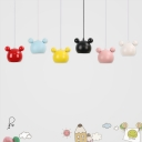 Cartoon Pendant Light Colorful Nordic Boys Girls Room Metal 1 Light Lighting Fixture