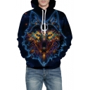 Fancy 3D Wolf Printed Unisex Long Sleeve Hoodie