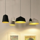 One Bulb Simple Bedroom Pendant Light in Black/White 5.9