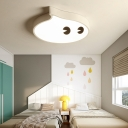 Small LED Cartoon Flush Mount Ceiling Lamp for Kids Bedroom