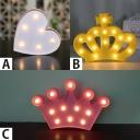 Led Mini Loving Heart/Crown Girls Bedroom Night Light 3 Styles for Option
