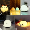 Lovely Animals Cat/Whale/Seal LED Night Light for Kids 5 Styles for Option USB Rechargeable