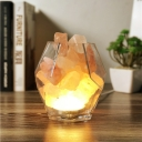 Glass Led Himalaya Salt Crystal Night Light with Dimmable Feature
