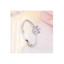 Chic Diamante Classic Ring for Couple