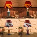 Resin Mailbox Standing Table Light Country Style Colorful 1 Head Table Lamp for Children Room