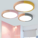 Circular Shape LED Ceiling Fixture Macaron Simple Living Room Acrylic Flush Light Fixture