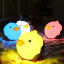 Portable Mini Round Chicken Kids LED Night Light in Pink/Yellow/White/Blue
