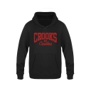 CROOKS Letter Printed Long Sleeve Leisure Hoodie