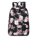 Waterproof Floral Printed Large Capacity Backpack School Bag