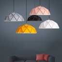 Dome Shade Contemporary Style Office Hanging Fixture in Various Colors