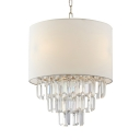 Modern Crystal Chandelier Drum Shade Chandelier Light Crystal Light Fixture