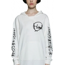HOWL Letter Japanese Printed Long Sleeve Leisure Hoodie