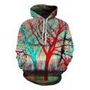 3D Tree Printed Long Sleeve Oversize Hoodie