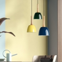 Polished Green/Blue/Yellow Finish LED Light Adjustable Pendant in Contemporary Style