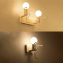 Nordic Style Metal Seesaw 2-Bulb Wall Light