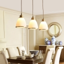 Transitional Style White Glass Shade One Bulb Mini Pendant Bar Lamp