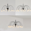 Sparkling Meteor Shower Shape Ceiling Chandelier Light in Brushed Nickle 12/18/21 Light