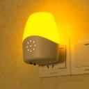 Plastic Light/Voice Control Remote Mini Night Light with Touch Sensor