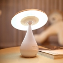 Chargeable Mushroom LED Night Light in White for Kids Reading
