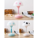 Plastic Portable Mini Mushroom Kids Night Light for Reading Studying in Blue/Pink/Black