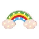 Beautiful Plastic Rainbow LED Kids Night Light for Decoration