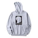 ELEVEN Letter Character Printed Long Sleeve Leisure Hoodie