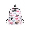 Lovely Cat All Over Printed School Bag Backpack