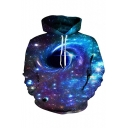 Universe Black Hole Printed Long Sleeve Hoodie