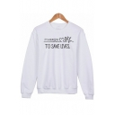 IT'S A BEAUTIFUL DAY Letter Printed Round Neck Long Sleeve Sweatshirt