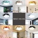 Acrylic Geometric Ceiling Fixture Colorful Modern Fashion Kids Youth LED Flush Mount Lighting