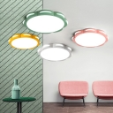 Acrylic Ceiling Lamp with Flower Shape Colorful Modern Flush Light Fixture for Girls Room