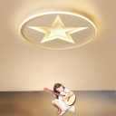 Simple Round Shape LED Children Bedroom Ceiling Lamp Small Size