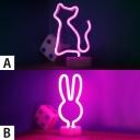 Lovely Cat/Bunny Purple Light Kids Room Night Light for Decorative